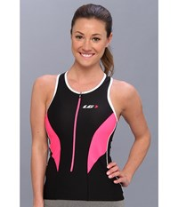Louis Garneau Women Pro Top Black Flash Pink Women's Clothing
