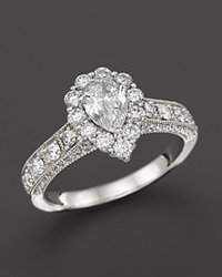 Bloomingdale's Vintage Inpired Diamond Engagement Ring In 14K White Gold 1.50 Ct. T.W.