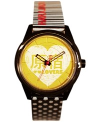 Harajuku Lovers Harajuku Lover Unisex Black And White Printed Hearts Designed By Gwen Stefani 40Mm Hl2613