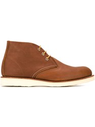 Red Wing Shoes Chunky Sole Chukka Boots Brown