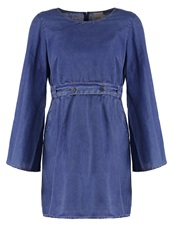 Vero Moda Vmcorrine Summer Dress Dark Blue Denim