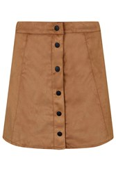 Suedette Button Up Skirt By Glamorous Tan