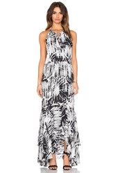 Parker Francesca Maxi Dress Black And White