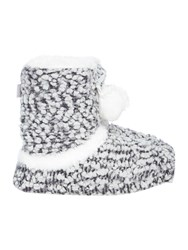 Totes Bobble Knitted Bootie Slipper Grey