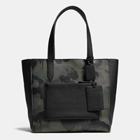 Coach Manhattan Tote In Military Wild Beast Print Leather