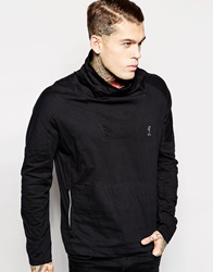 Religion Cowl Neck Sweatshirt Black