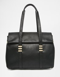 Warehouse Fold Over Tote Bag Black