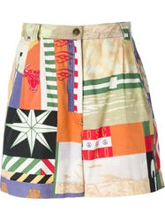 Moschino Vintage Printed Shorts Multicolour