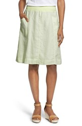 Women's Eileen Fisher Organic Linen Knee Length Skirt Celadon