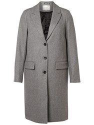 Selected Femme Constract City Coat Light Grey Melange