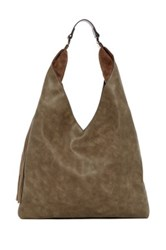 Steve Madden Tassel Hobo Bag Gray