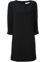 Gianluca Capannolo Round Neck Shift Dress Black