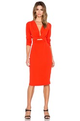 Becandbridge Bon Bon Long Sleeve Dress Orange