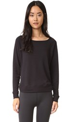 Beyond Yoga Kate Spade Relaxed Long Sleeve Pullover Black