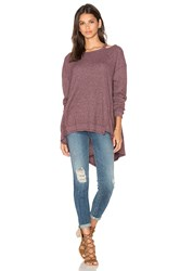 Wilt Open Neck Slouchy Big Back Slant Top Burgundy