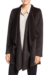 Eileen Fisher Women's Lightweight Alpaca Blend Drape Front Coat