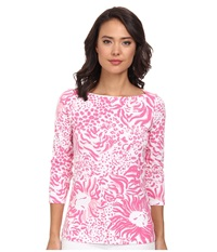 Lilly Pulitzer Andie Top Resort White Get Spotted Women's Clothing Pink