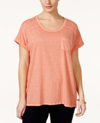 Styleandco. Style And Co. Plus Size Short Sleeve Patch Pocket Tee