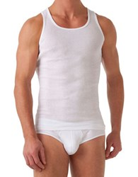 2Xist 3 Pack Cotton Blend Tank Top White