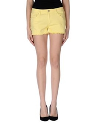 Silvian Heach Denim Shorts Yellow