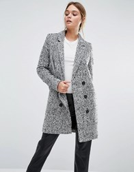 Y.A.S Dalay Tailored Coat In Tweed Black White Grey