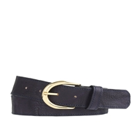 J.Crew Vintage Leather Wide Belt Navy