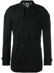 Burberry Mid Belted Trenchcoat Black
