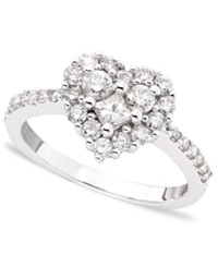 Effy Collection Classique By Effy Diamond Diamond Heart Ring 9 10 Ct. T.W. In 14K White Gold