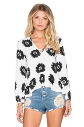 Lucca Couture Sunflower Top White