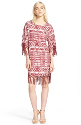 Sam Edelman 'Cheyenne' Fringe Shift Dress Port