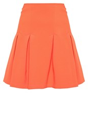 Patrizia Pepe Pleated Skirt Red Clay