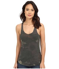 Alternative Apparel Printed Meegs Racer Tank Camo Dreamstate Women's Sleeveless Black