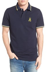 Men's Psycho Bunny Neon Polo Navy Yellow