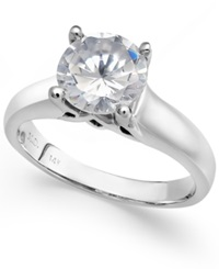 Macy's Certified Diamond Solitaire Engagement Ring In 14K White Gold 2 Ct. T.W.