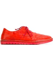 Marsell Marsell Rubber Sole Brogues Red