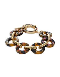Kate Spade Out Of Her Shell Tortoise Shell Toggle Bracelet Dark Brown