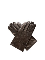 Valentino Leather Gloves Black