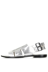Topshop Fruity Cut Out Sandals Silver