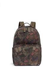 Valentino 'Camubutterfly' Print Canvas Backpack