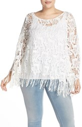 Plus Size Women's Bb Dakota 'Barnaby' Lace Poncho Top