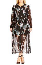 Plus Size Women's City Chic 'Longline Lady' Maxi Shirtdress