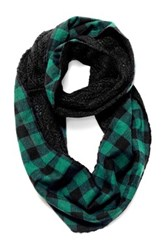 Muk Luks Plaid Festival Eternity Scarf Black