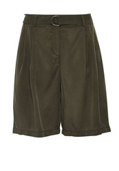 Hallhuber Pleated Shorts Green