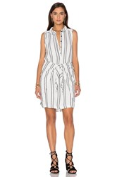 Maven West Wrap Tie Dress White