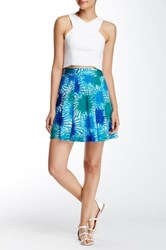Plenty By Tracy Reese Pleated Skirt Blue
