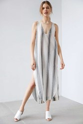 Silence And Noise Silence Noise Annaka Striped Maxi Tank Dress Black And White