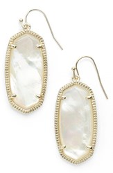 Kendra Scott Women's 'Elle' Drop Earrings Ivory Mother Of Pearl Gold