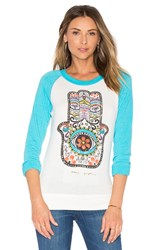 Spiritual Gangster Hamsa Day Of The Dead Savasana Raglan Tee Blue