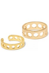 Arme De L'amour Set Of Two Gold Plated Rings Metallic