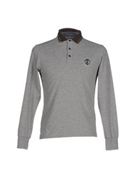 Cooperativa Pescatori Posillipo Topwear Polo Shirts Men Grey